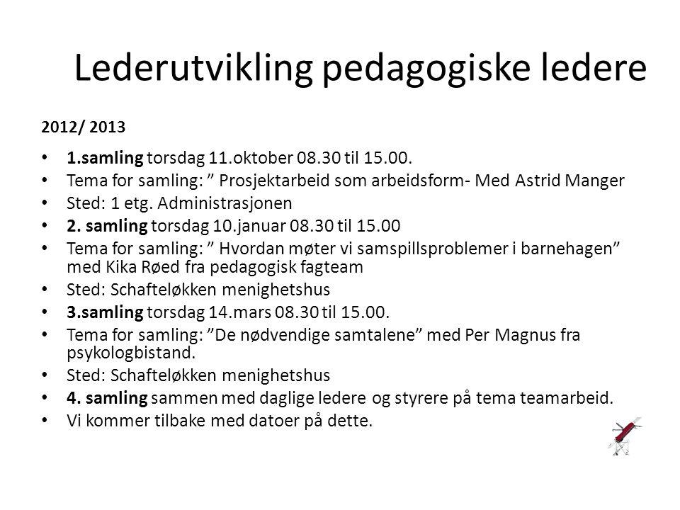 Lederutvikling pedagogiske ledere