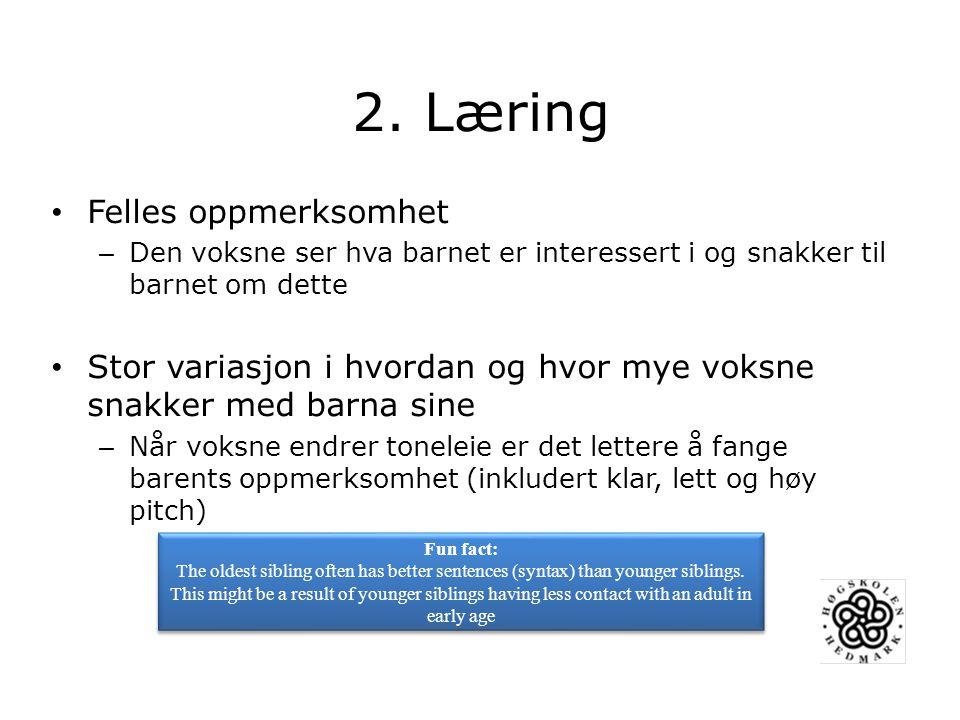 2. Læring Felles oppmerksomhet