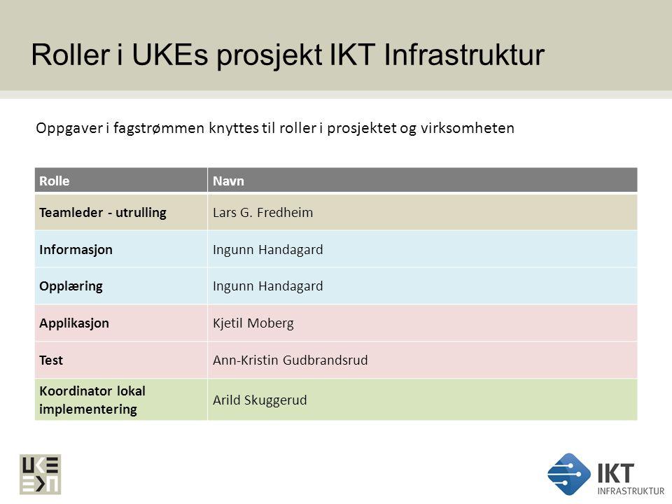 Roller i UKEs prosjekt IKT Infrastruktur