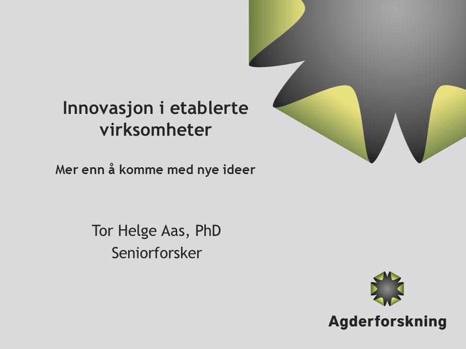 Innovasjon i etablerte virksomheter Mer enn å komme med nye ideer