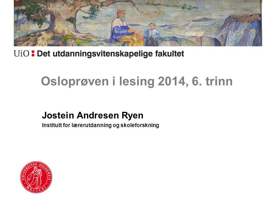Osloprøven i lesing 2014, 6. trinn