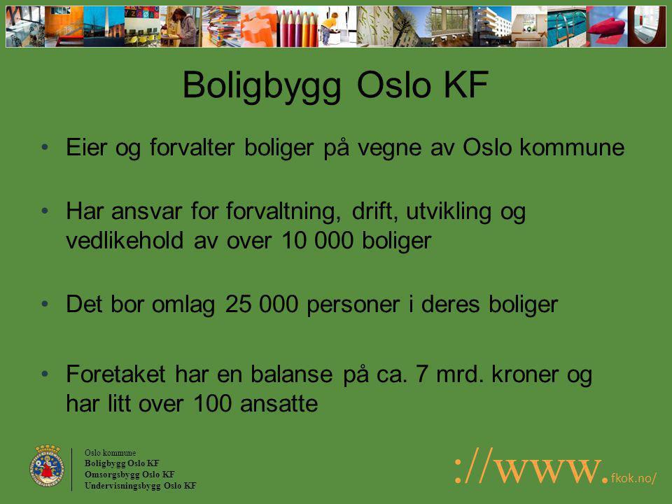 Boligbygg Oslo KF Eier og forvalter boliger på vegne av Oslo kommune