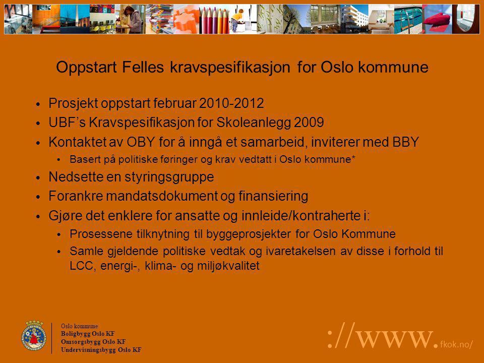 Oppstart Felles kravspesifikasjon for Oslo kommune