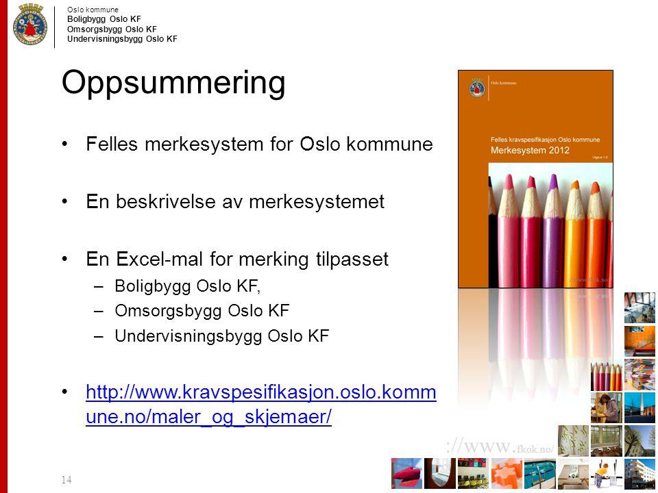 Oppsummering Felles merkesystem for Oslo kommune