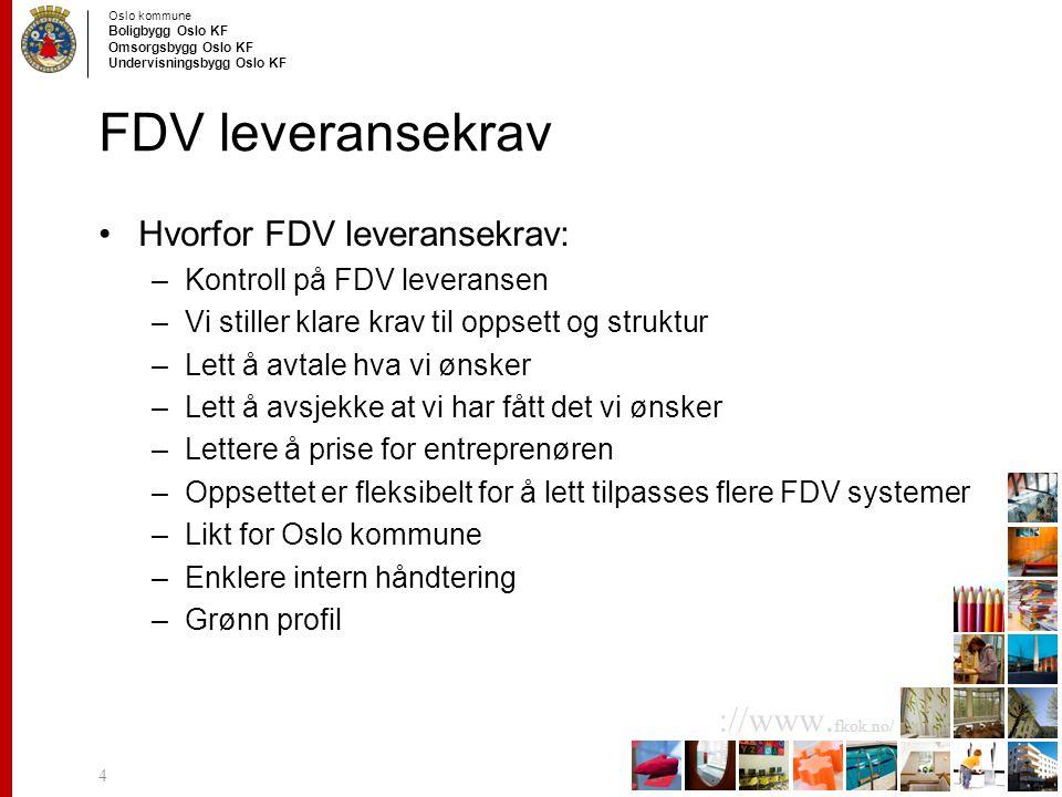 FDV leveransekrav Hvorfor FDV leveransekrav:
