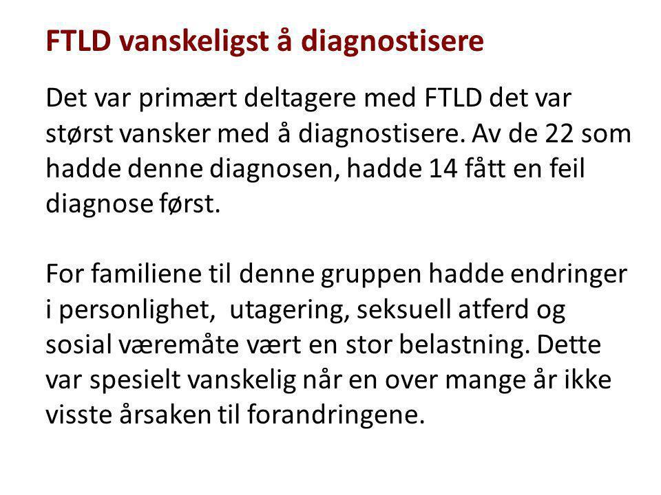 FTLD vanskeligst å diagnostisere