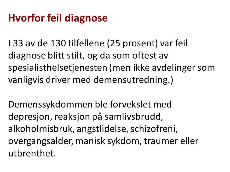 Hvorfor feil diagnose