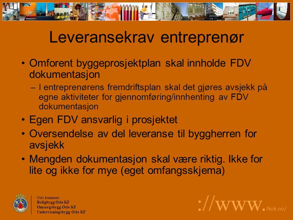 Leveransekrav entreprenør