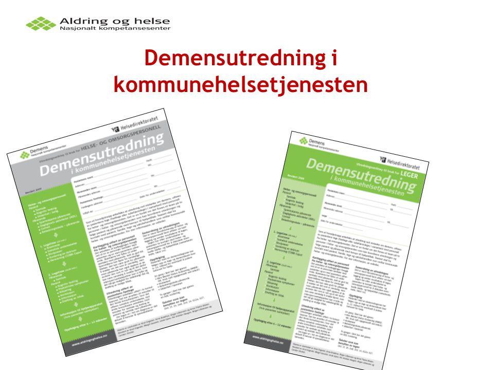 Demensutredning i kommunehelsetjenesten