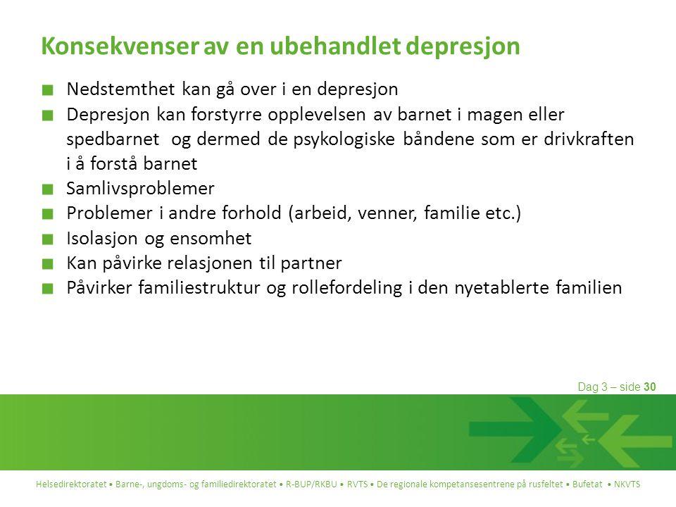 Konsekvenser av en ubehandlet depresjon
