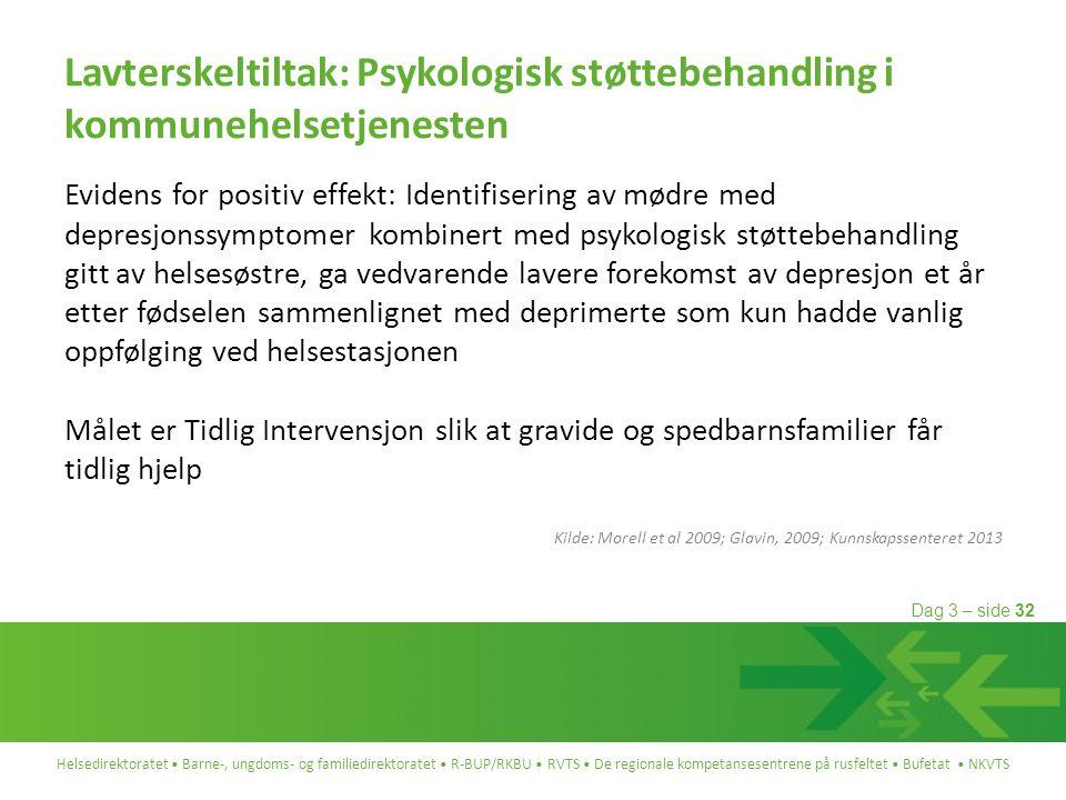 Lavterskeltiltak: Psykologisk støttebehandling i kommunehelsetjenesten