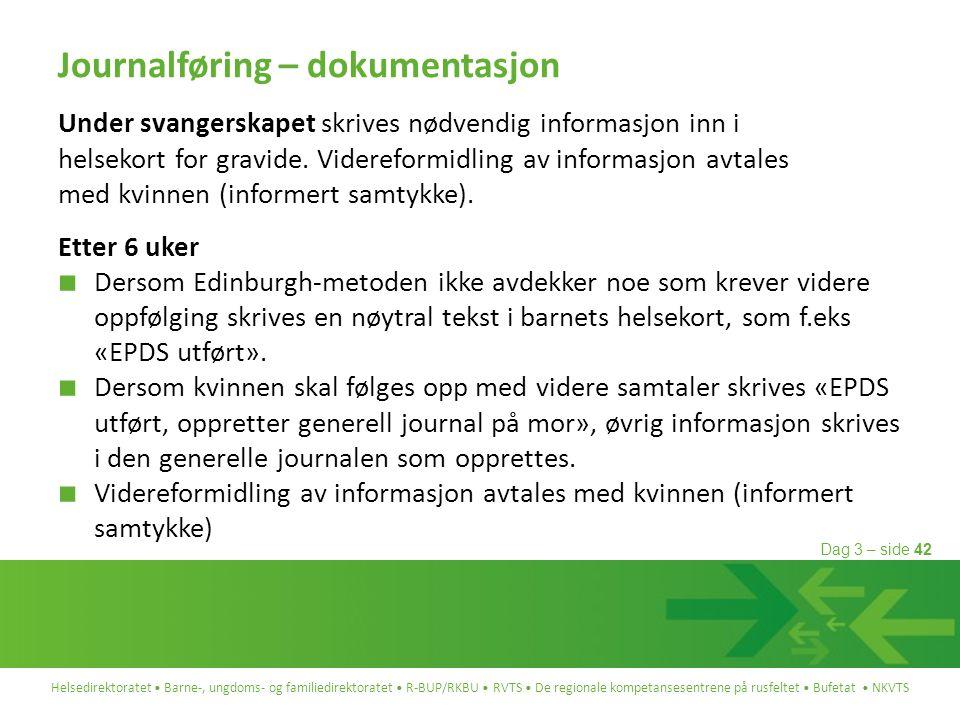 Journalføring – dokumentasjon