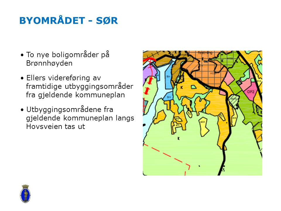 Byområdet - sør To nye boligområder på Brønnhøyden