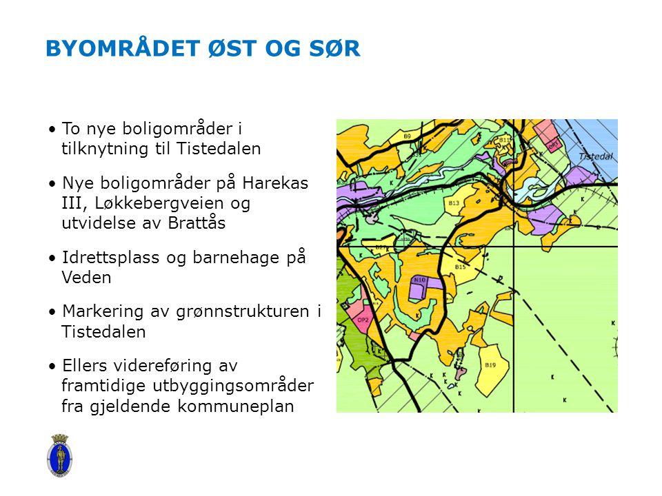 Byområdet øst og sør To nye boligområder i tilknytning til Tistedalen