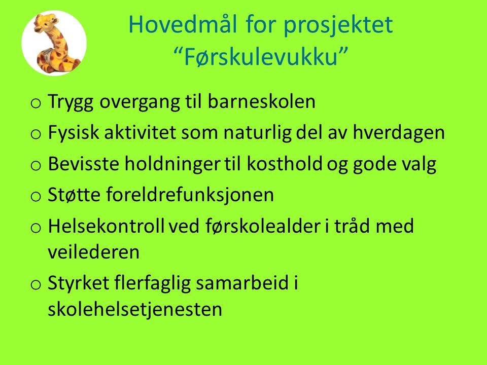 Hovedmål for prosjektet Førskulevukku