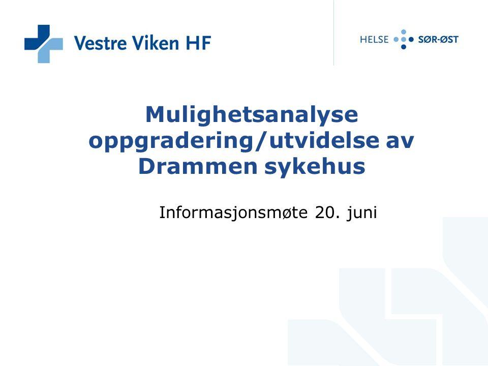 Mulighetsanalyse oppgradering/utvidelse av Drammen sykehus