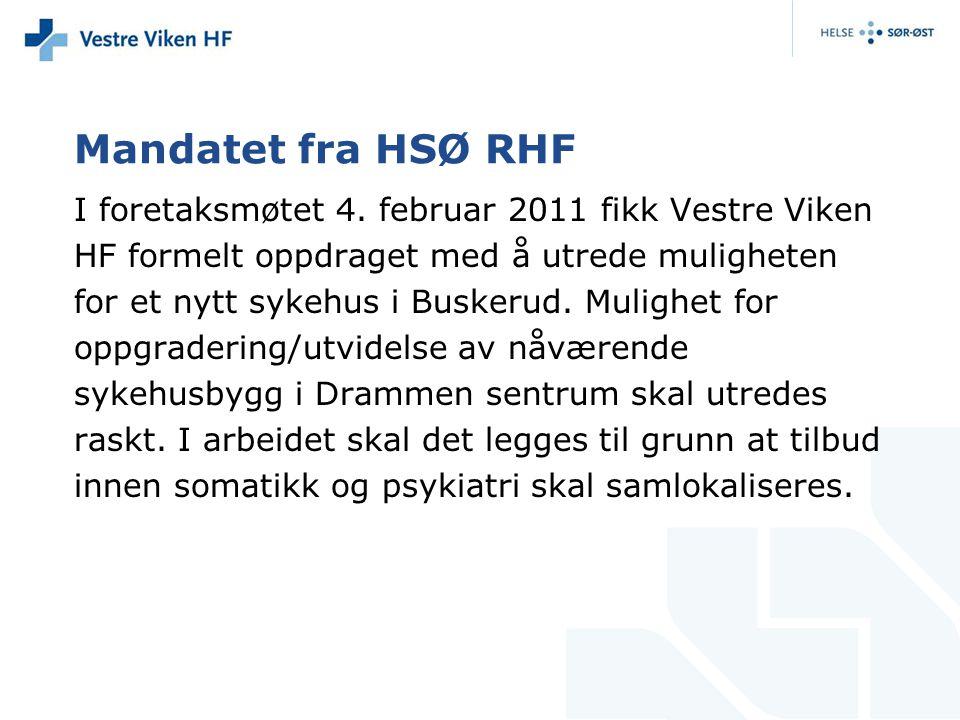 Mandatet fra HSØ RHF