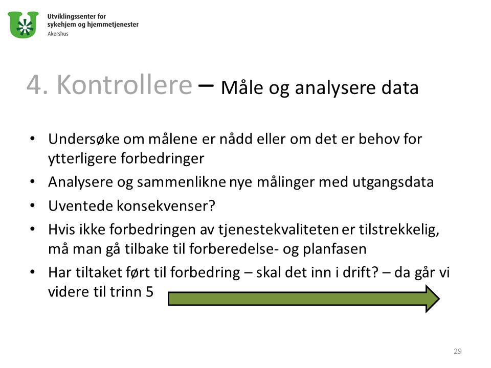 4. Kontrollere – Måle og analysere data