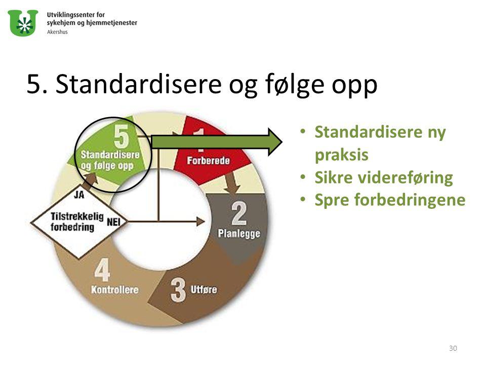 5. Standardisere og følge opp