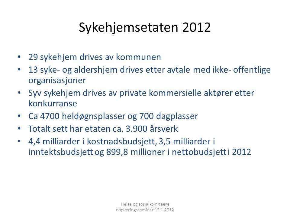 Helse og sosialkomiteens opplæringsseminar 12.1.2012