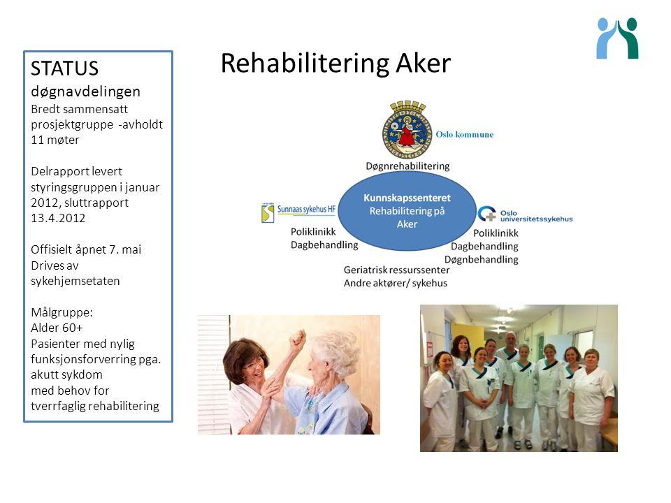 Rehabilitering Aker STATUS døgnavdelingen
