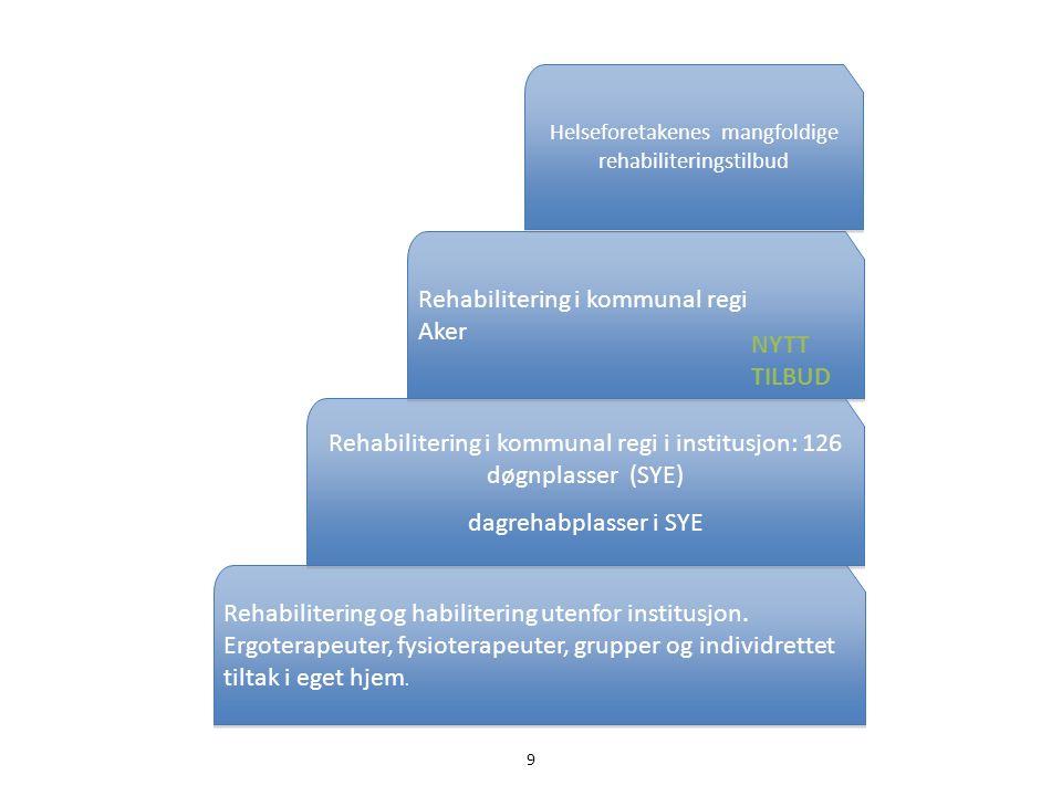 Rehabilitering i kommunal regi i institusjon: 126 døgnplasser (SYE)