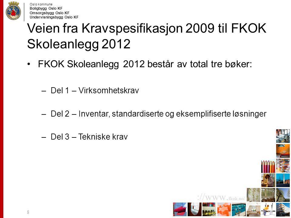 Veien fra Kravspesifikasjon 2009 til FKOK Skoleanlegg 2012