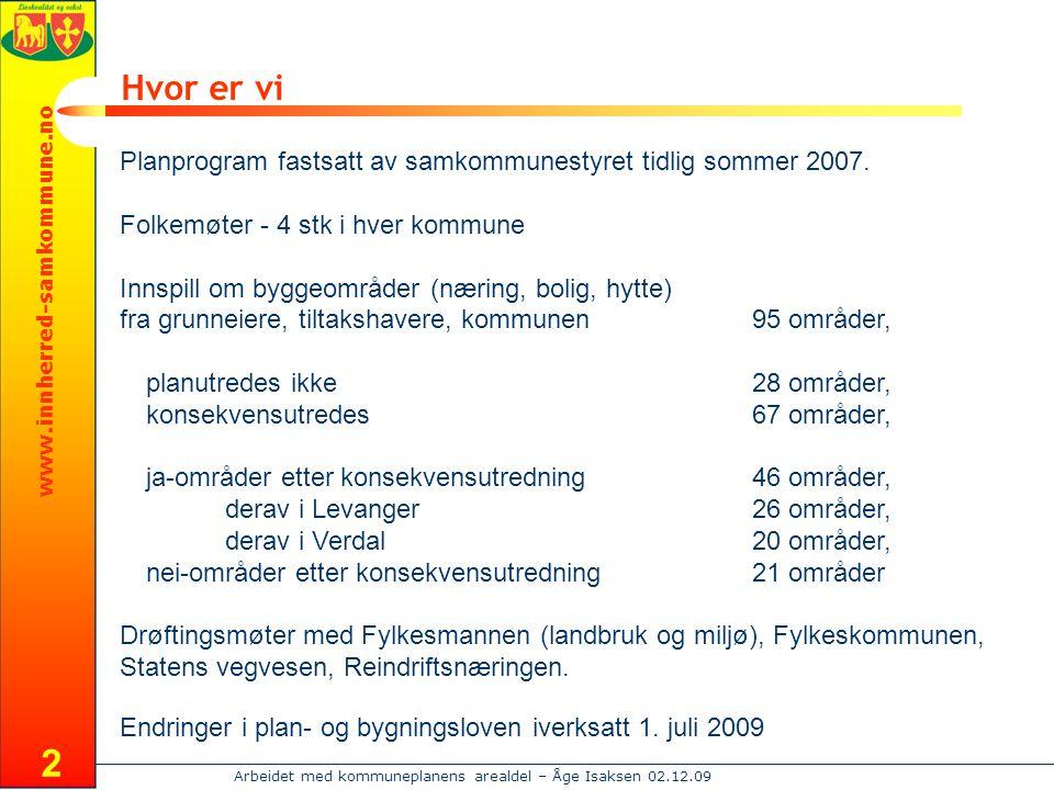 Hvor er vi Planprogram fastsatt av samkommunestyret tidlig sommer 2007. Folkemøter - 4 stk i hver kommune.