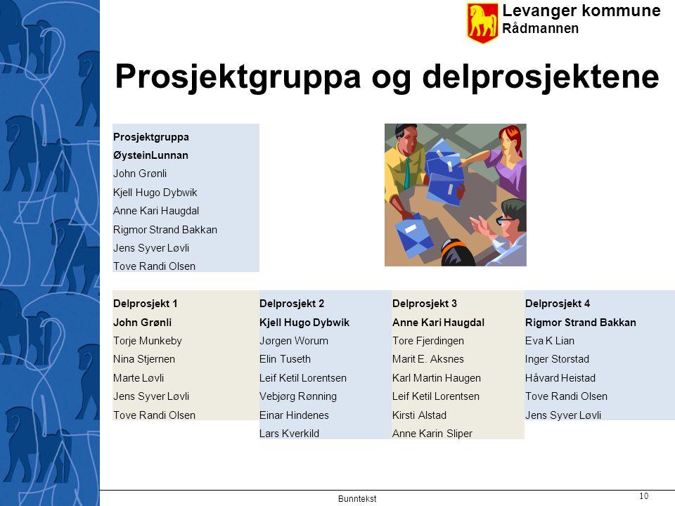 Prosjektgruppa og delprosjektene