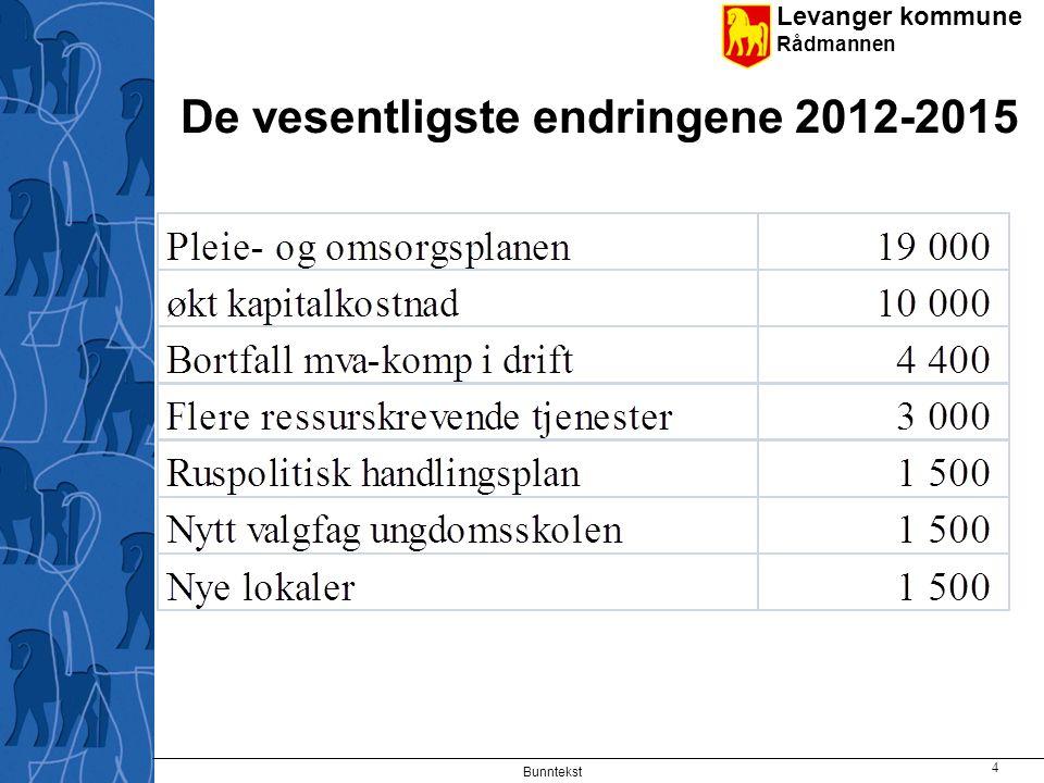 De vesentligste endringene 2012-2015