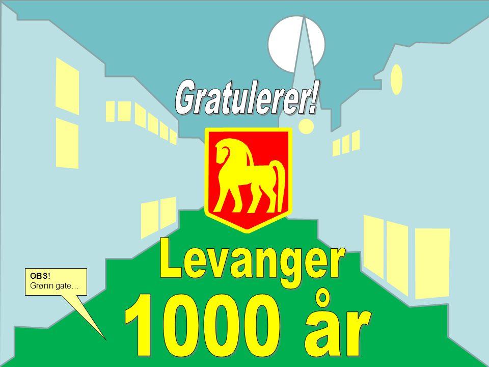 Levanger 1000 år OBS! Grønn gate… Gratulerer!