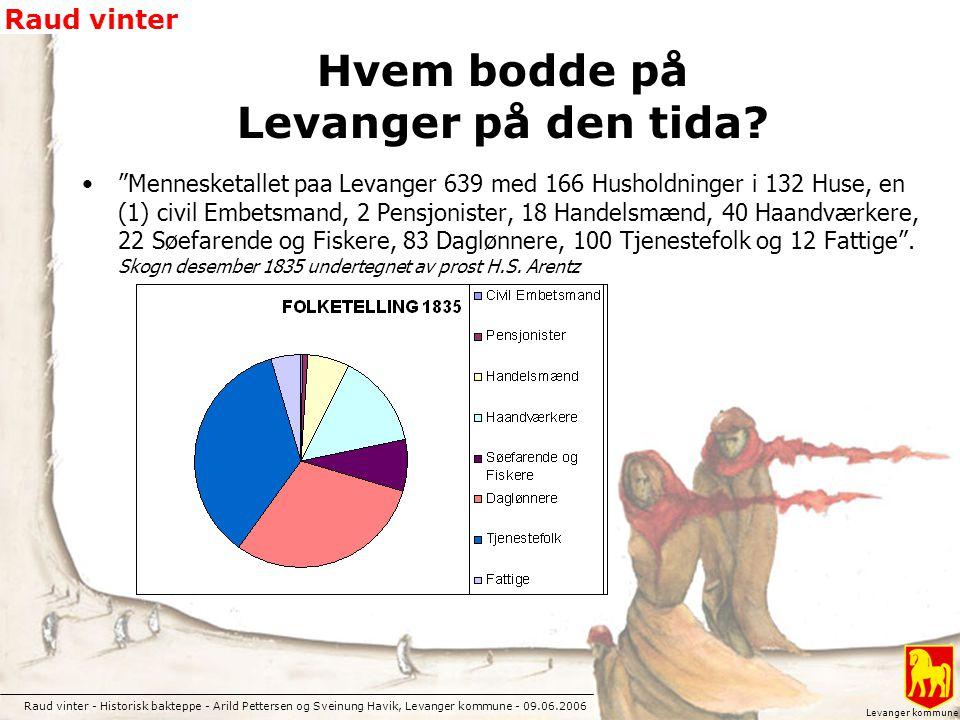 Hvem bodde på Levanger på den tida
