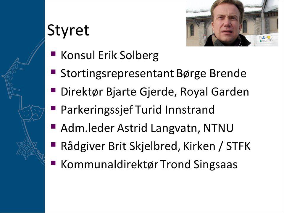 Styret Konsul Erik Solberg Stortingsrepresentant Børge Brende