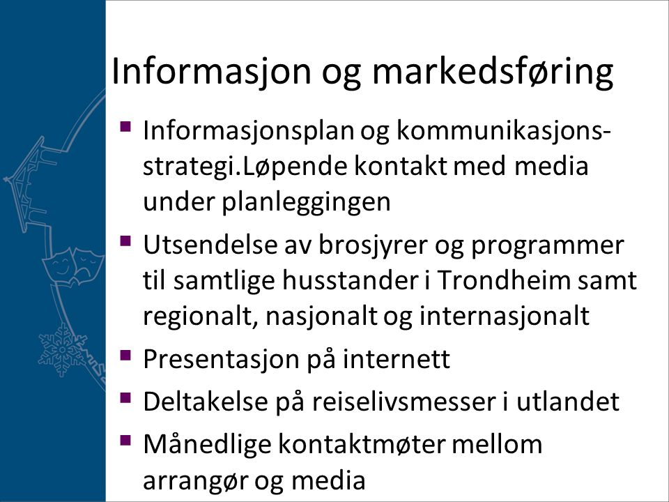 Informasjon og markedsføring