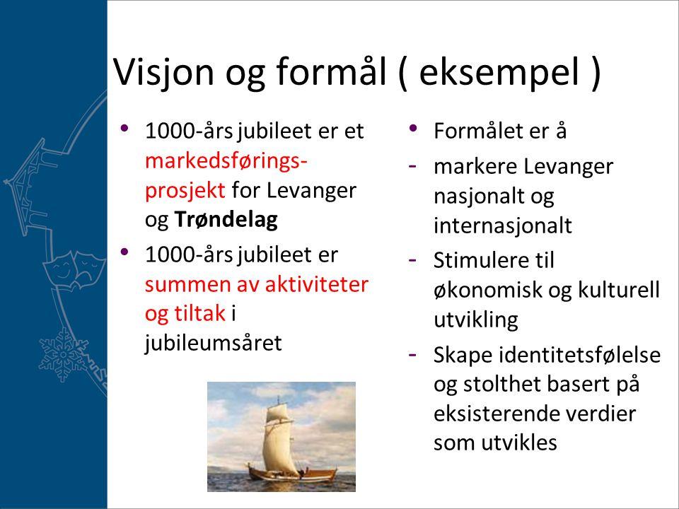 Visjon og formål ( eksempel )