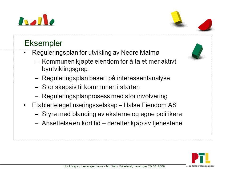 Eksempler Reguleringsplan for utvikling av Nedre Malmø