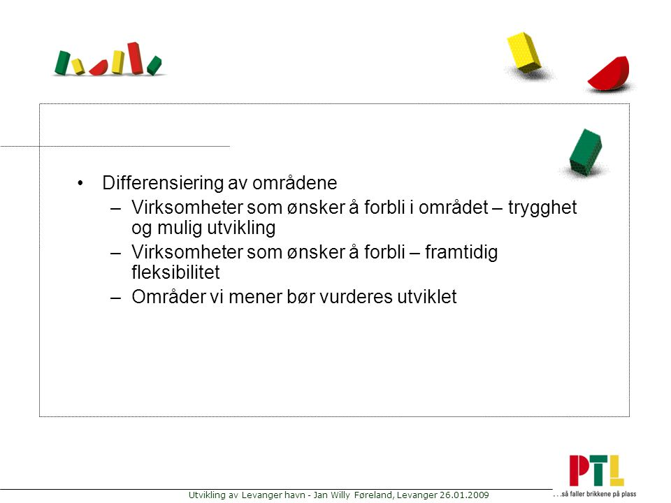 Differensiering av områdene