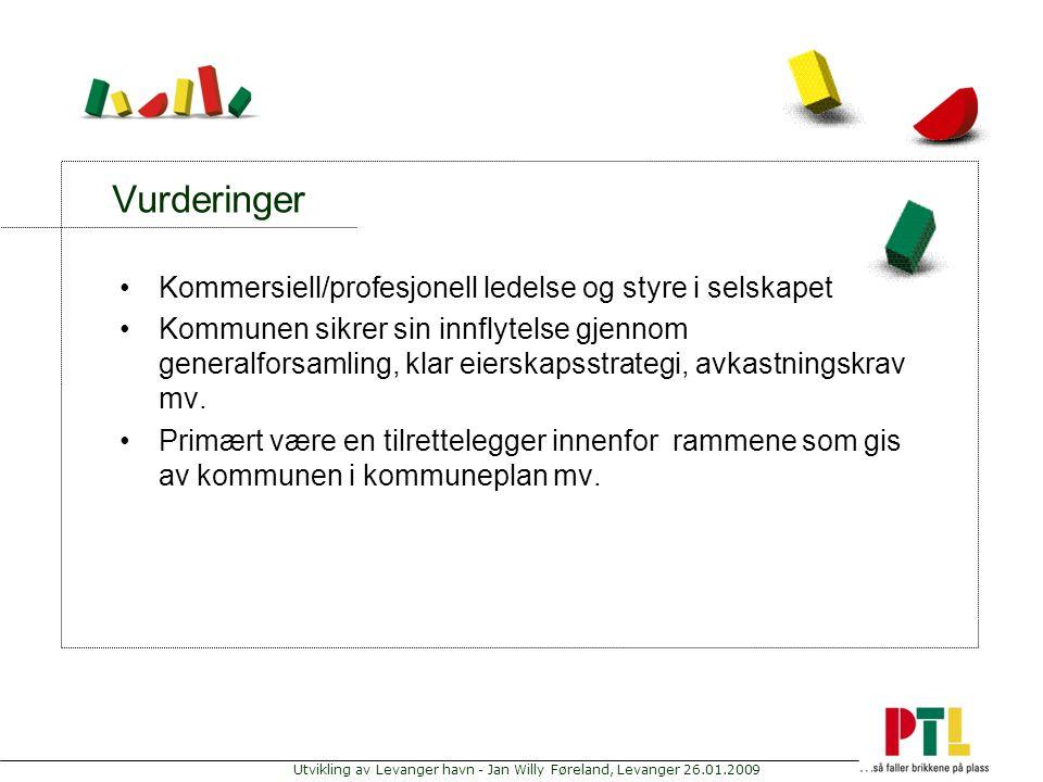 Vurderinger Kommersiell/profesjonell ledelse og styre i selskapet
