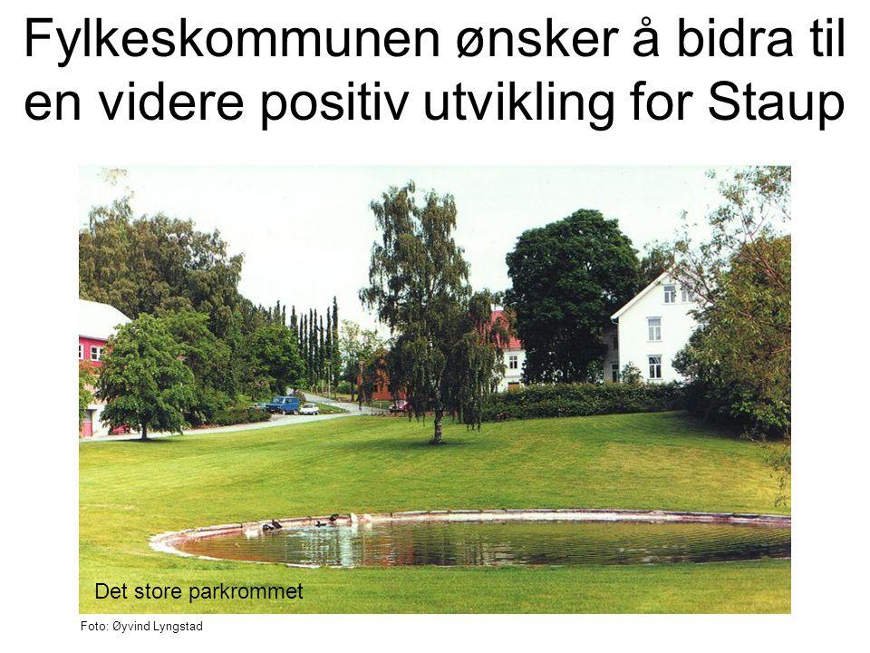 Fylkeskommunen ønsker å bidra til en videre positiv utvikling for Staup