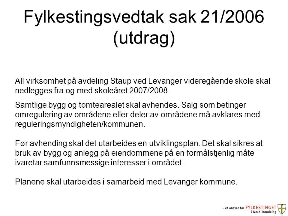 Fylkestingsvedtak sak 21/2006 (utdrag)