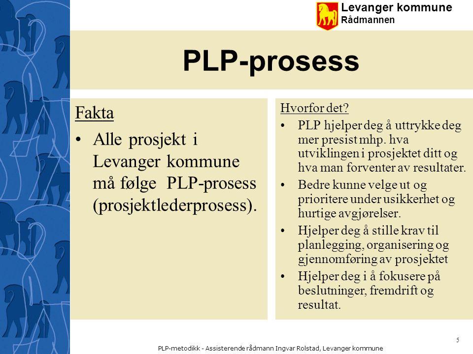 PLP-metodikk - Assisterende rådmann Ingvar Rolstad, Levanger kommune