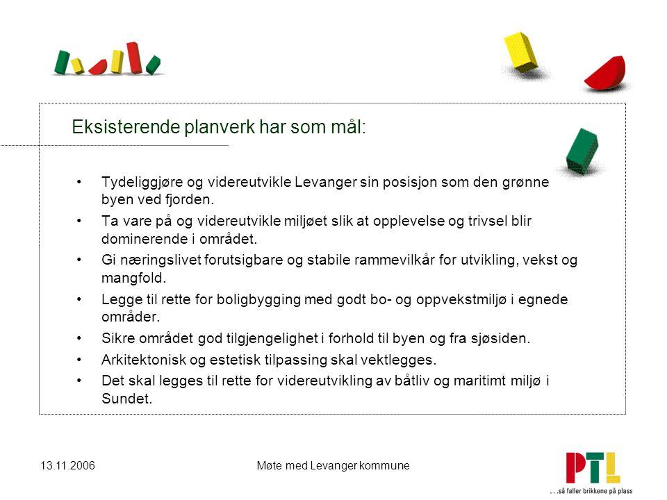Eksisterende planverk har som mål: