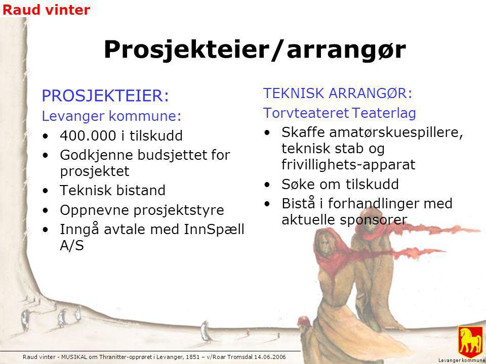 Prosjekteier/arrangør