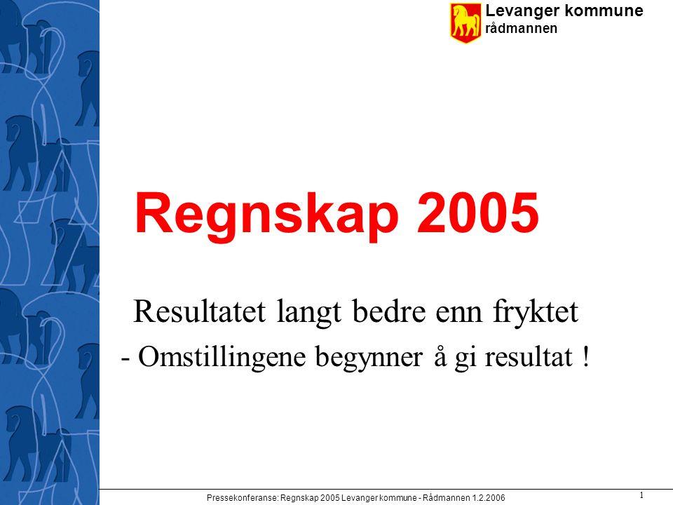 Regnskap 2005 Resultatet langt bedre enn fryktet