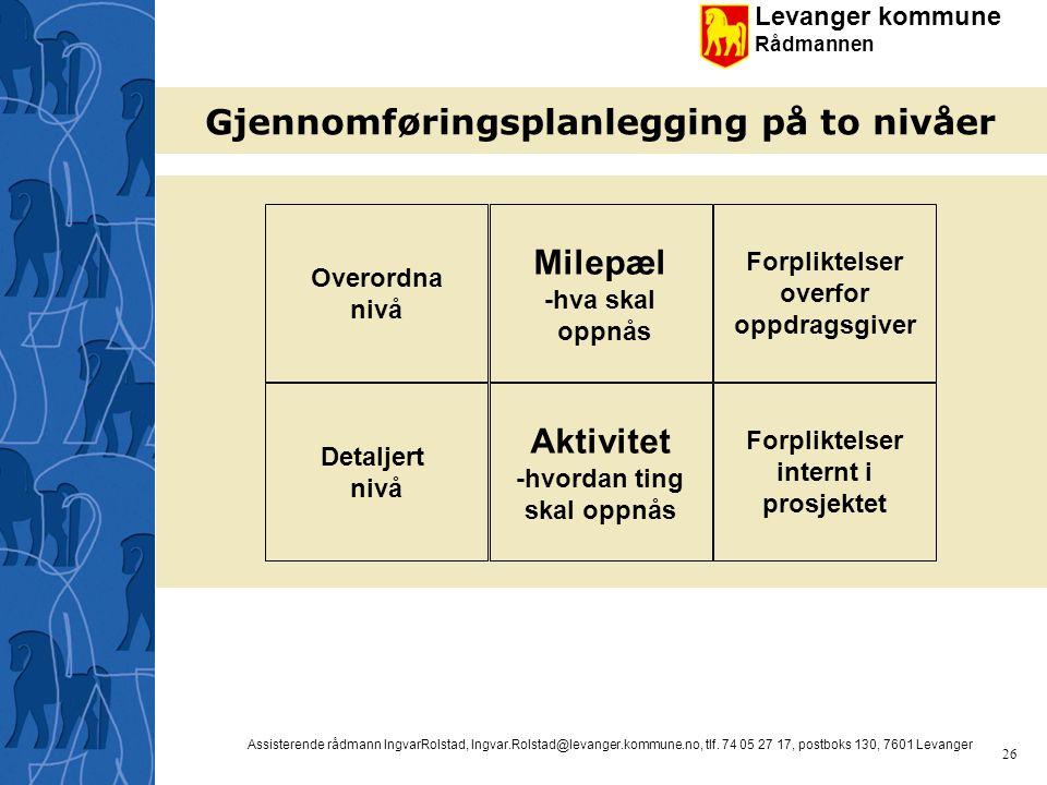 Gjennomføringsplanlegging på to nivåer
