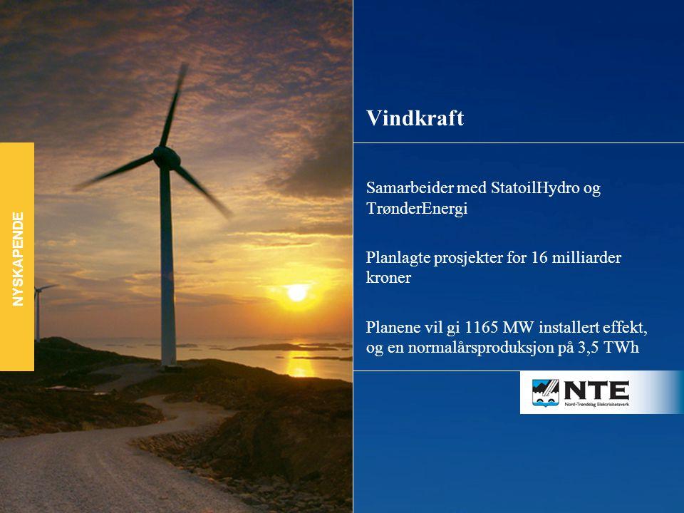 Vindkraft Samarbeider med StatoilHydro og TrønderEnergi