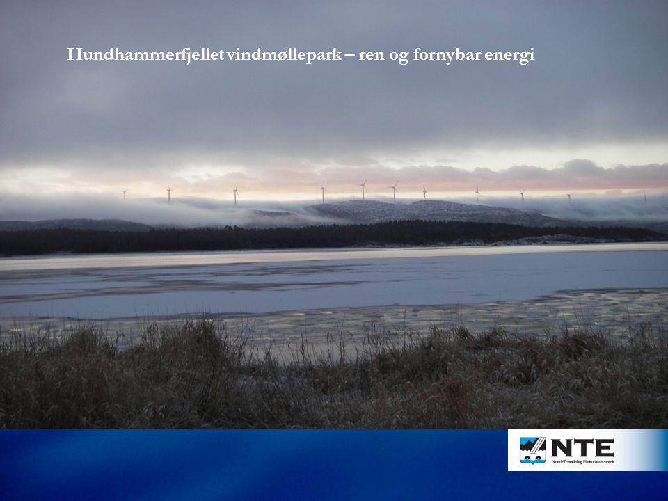 Hundhammerfjellet vindmøllepark – ren og fornybar energi