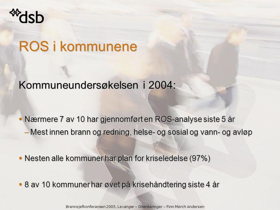ROS i kommunene Kommuneundersøkelsen i 2004: