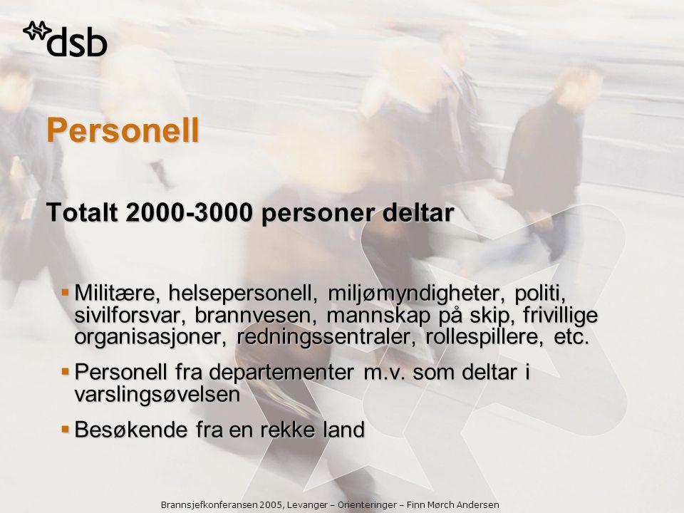 Personell Totalt 2000-3000 personer deltar