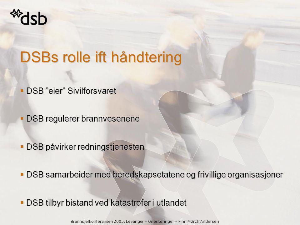 DSBs rolle ift håndtering